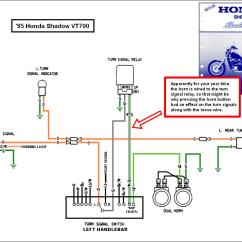 Motorcycle Honda Shadow Wiring Diagram Vw Golf Mk5 Tow Bar 1988 Vt1100 Turning Signal