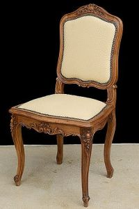 Set of Antique French Louis XV-Style Carved Walnut Chairs ...