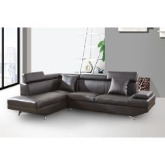 Elena Reversible Chaise Sofa Small Sectional Under 300 Black Leather Modern 2 Piece Set