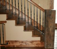 reclaimed wood railings | Mountain Style Remodeling Inc ...
