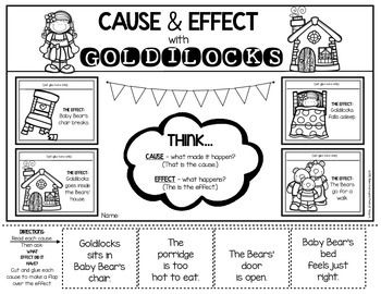 Cause and Effect worksheet for Kindergarten and First
