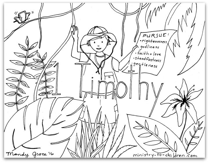 Lois Eunice And Timothy Coloring Page Sketch Coloring Page