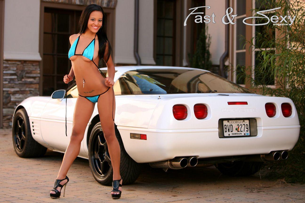C4 Corvette Convertible White Car