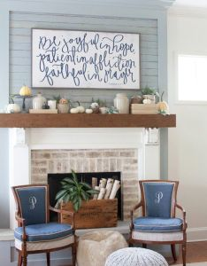 Fall decorating mantel the lettered cottage house of belonging also best images about fireplace on pinterest brick rh