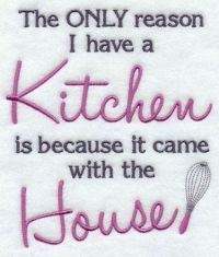 A funny kitchen saying machine embroidery design. | Sew ...