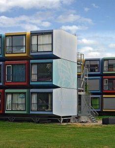 Container house complexo de habitacoes para estudantes completamente construido com contentores na universidade also rh pinterest