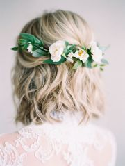 short hair bridal hairstyle