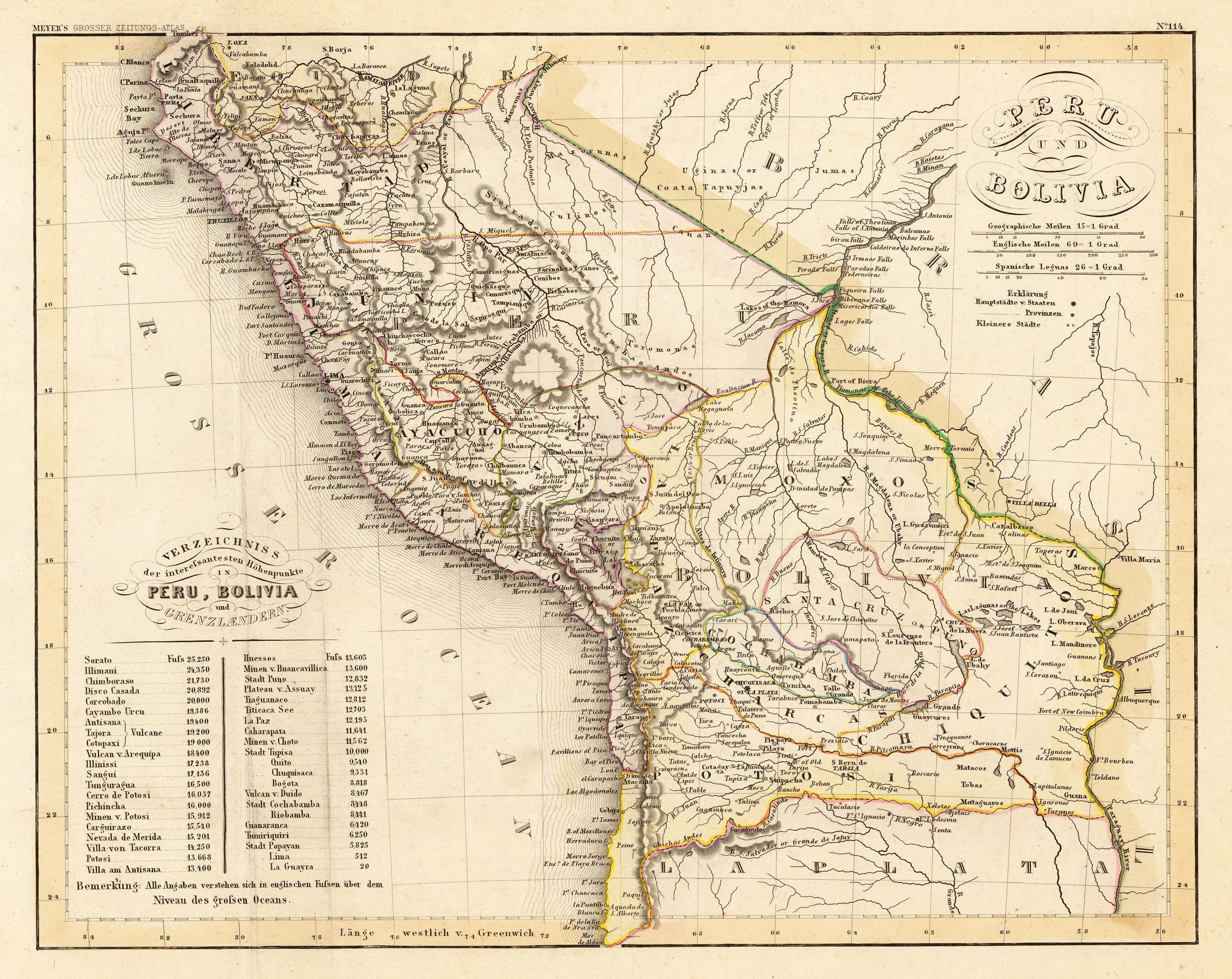 Basic Grades 9 10 Map Of Peru