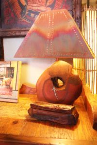 Mesquite With Turquoise In-Lay Lamp by The Rustic Gallery ...