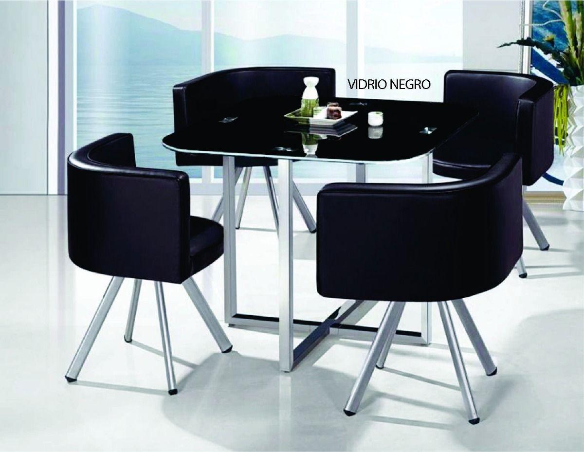 juego de comedor 4 sillones sillas tapizados tapa de