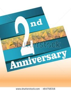 nd anniversary logo with blue background and golden leaf texture in the middle also rh pinterest
