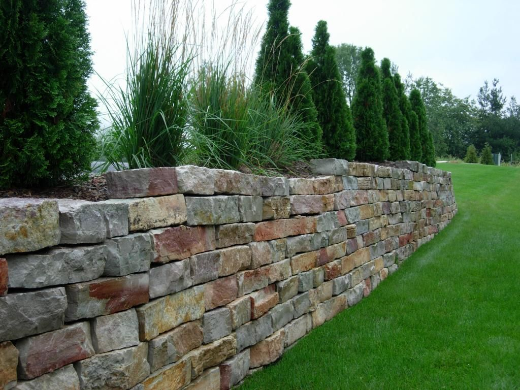 Stacked Retaining Wall Cottage Block Garden Care And