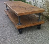 Industrial Pipe coffee table with wheels | Industrial Pipe ...