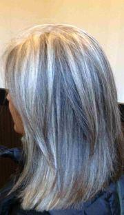 blonde highlights gray hair