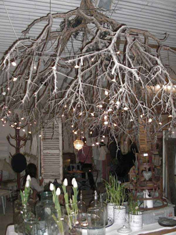 30 Creative Diy Ideas For Rustic Tree Branch Chandeliers