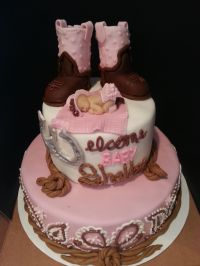Cowgirl Baby Shower ..... Im in love with this cake ...