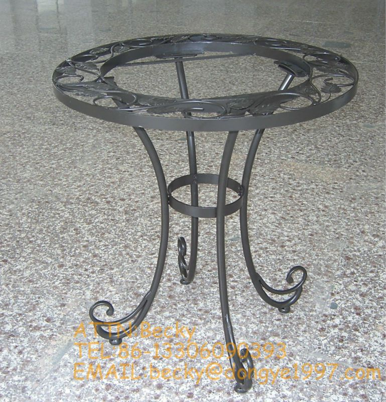 Round Wrought Iron Coffee Table Legs, View metal coffee