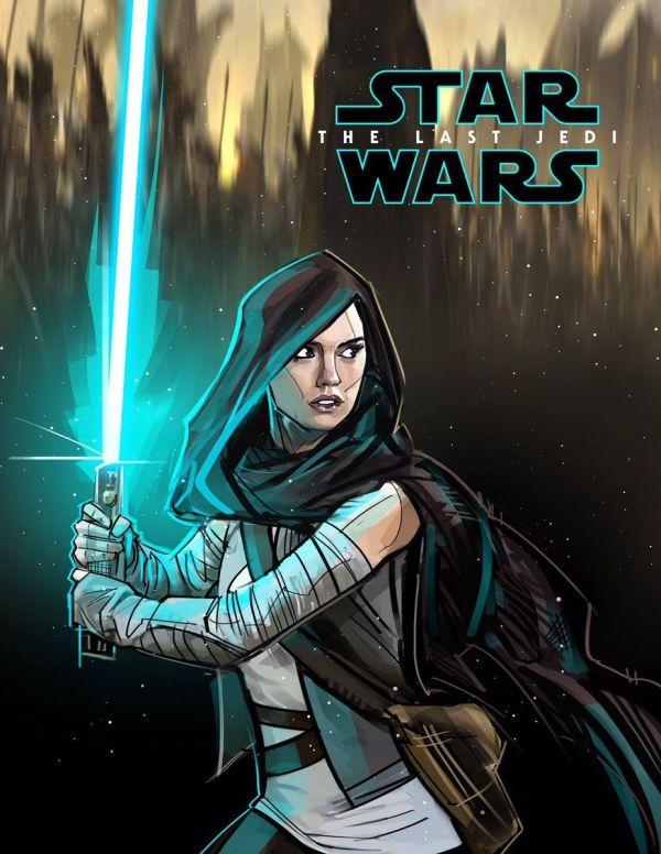 Rey the Last Jedi Star Wars Fan Art