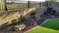 Small Backyard Synthetic Lawn - Arizona Living Landscape ...