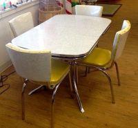 1950s Mid-Century Dinette Set GORGEOUS | chrome kitchen ...