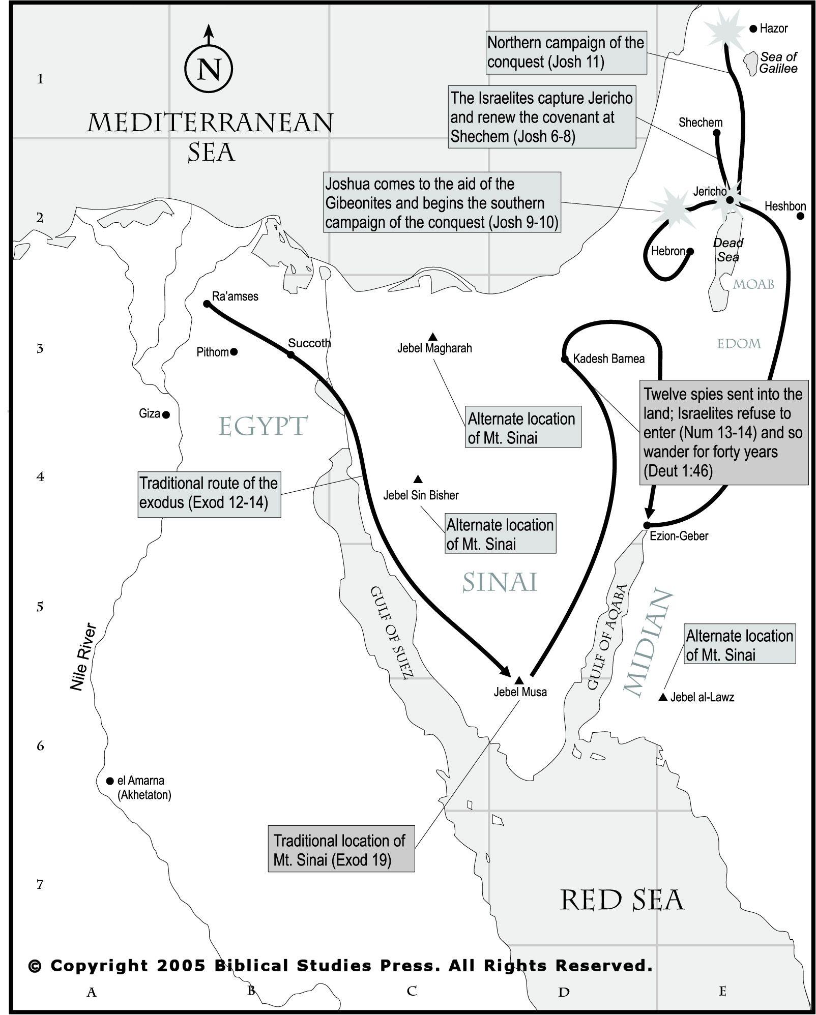 Route Van De Uittocht Map Of The Exodus
