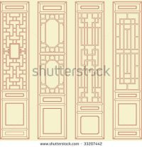 Traditional chinese classic window, door, screen frame ...