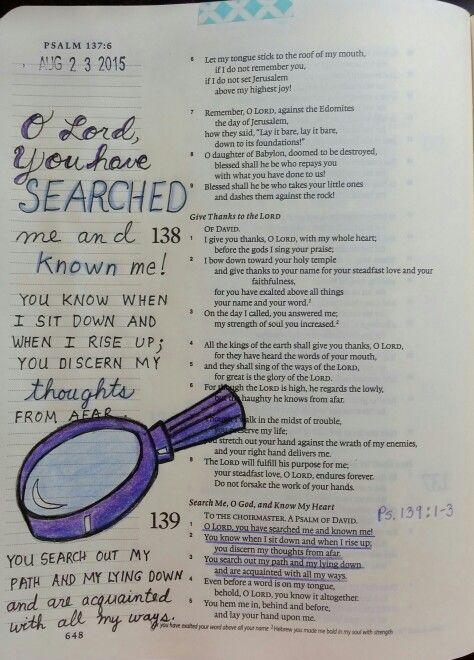 Psalm 139 1 3 Bible Psalm 121 150 Pinterest Psalm 139