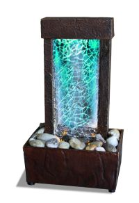 Cracked Glass Light Show LED Indoor Fountain - Tabletop ...