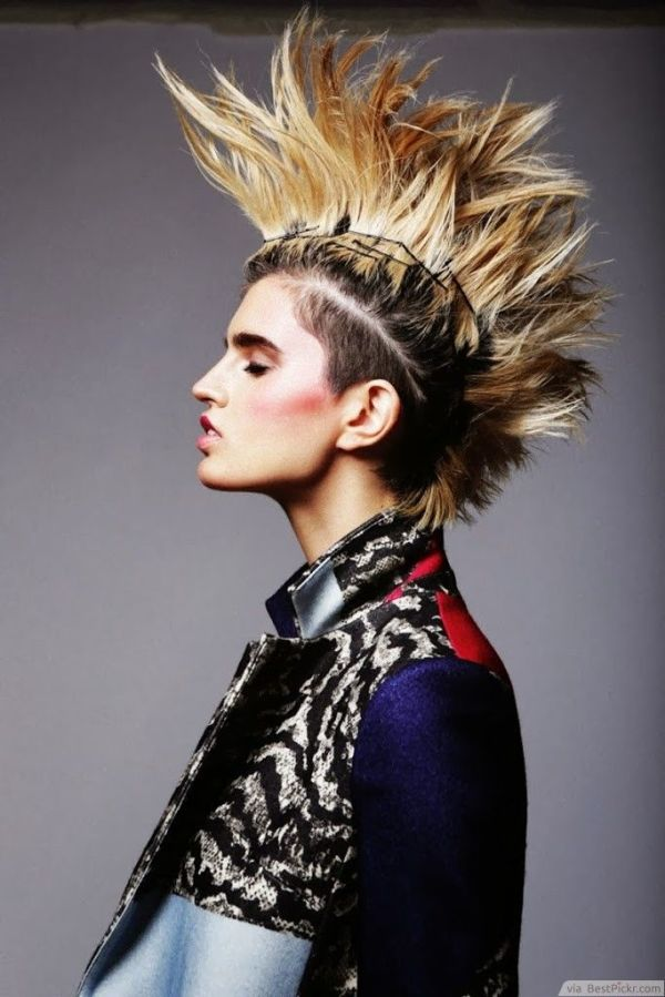 30 Girls Punk Hairstyles Spike Hairstyles Ideas Walk The Falls