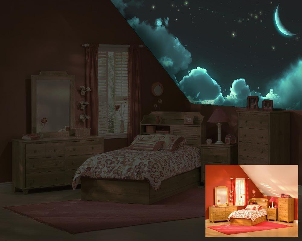 Glow in the dark children   murals luminous art by izzyarts it would bedroomskid also rh pinterest