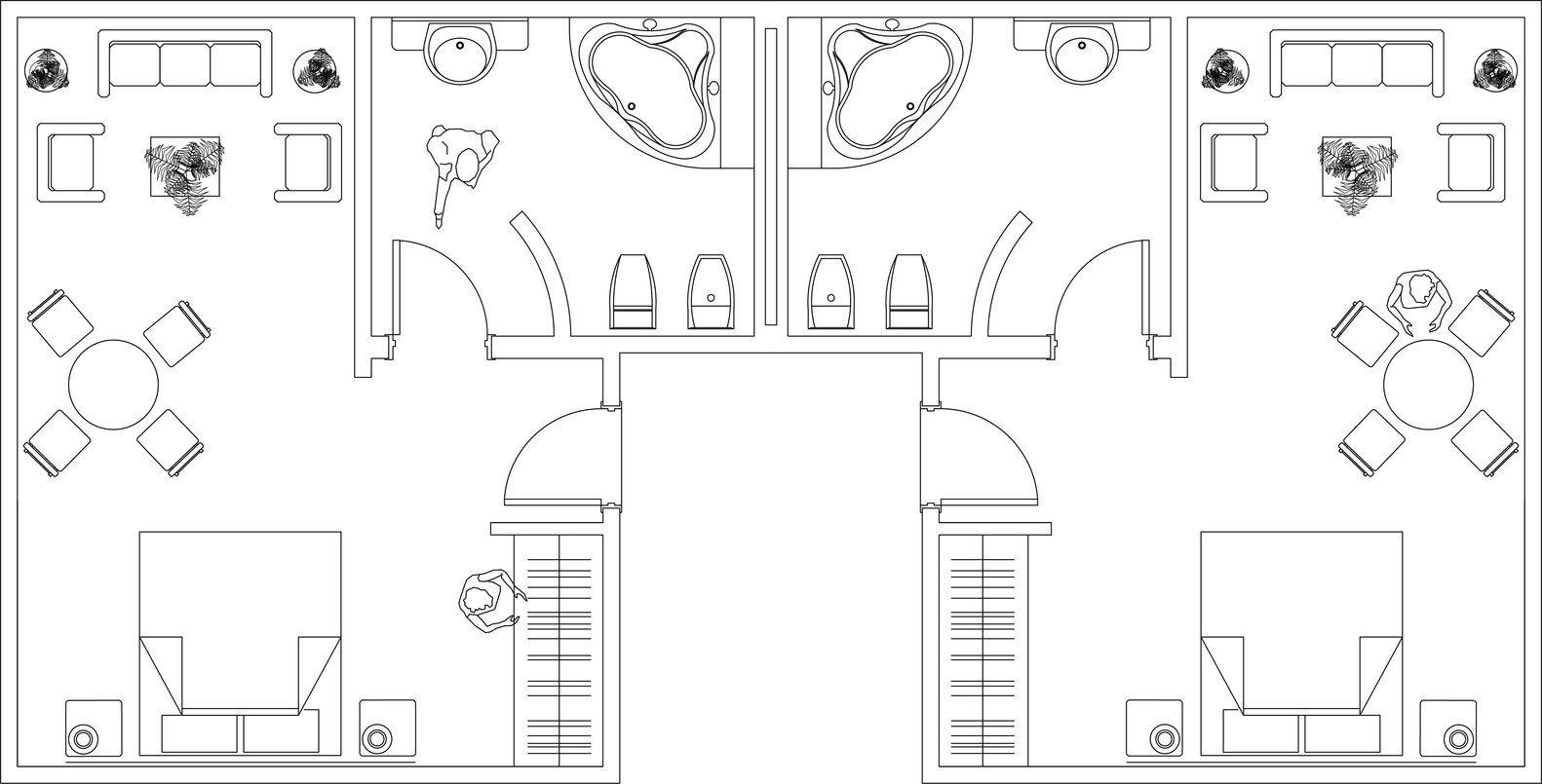 Galeria de Biblioteca de desenhos arquitetônicos em DWG