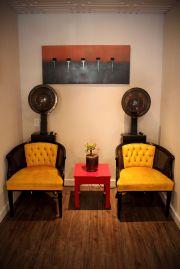 vintage inspired salon designed