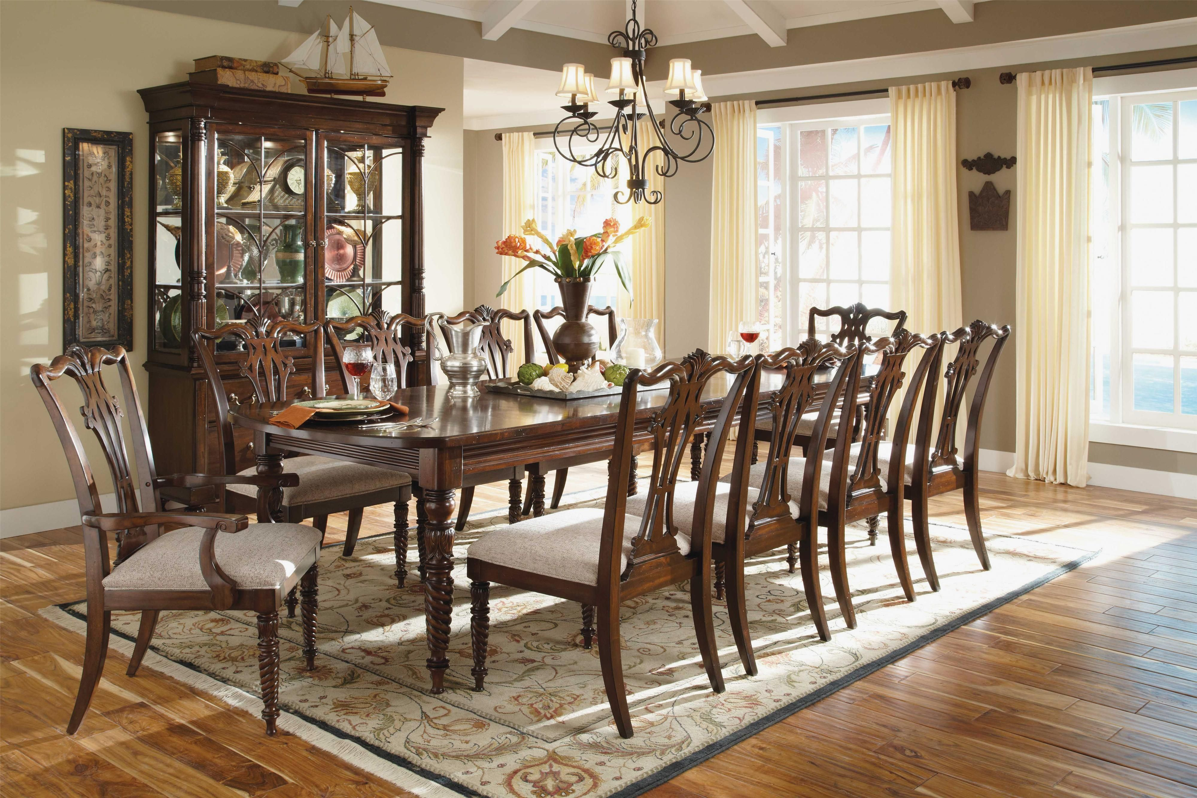 Dining Room French Country Sets Wood Table For 10 Formal