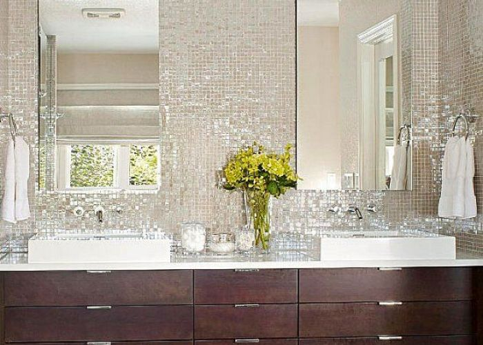 Bathroom mosaic tile white backsplash ideas also pinterest