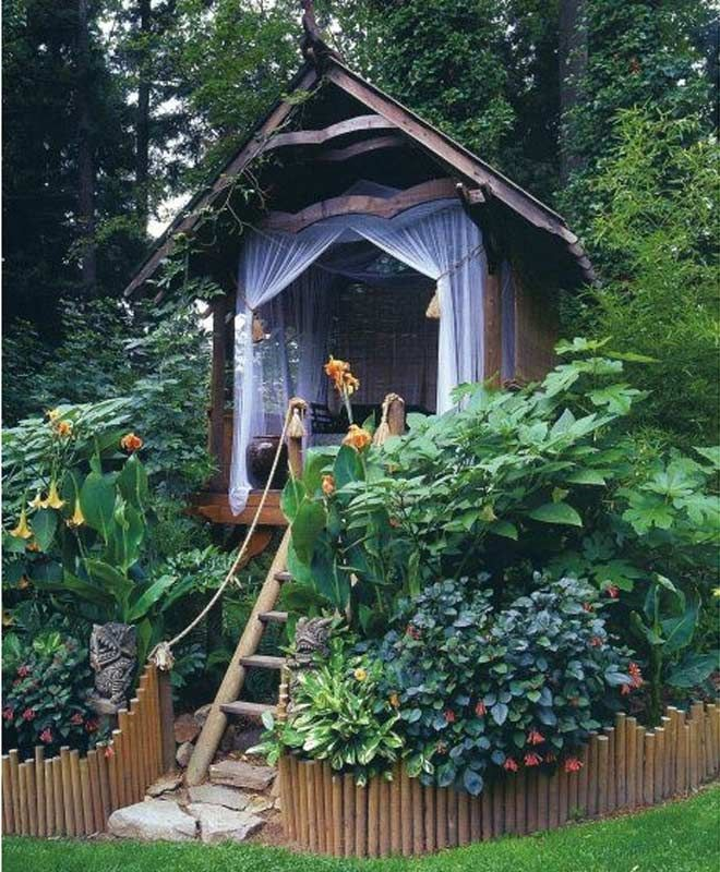 Garden Tree House Ideas This Is A Bit Elaborate But All Children