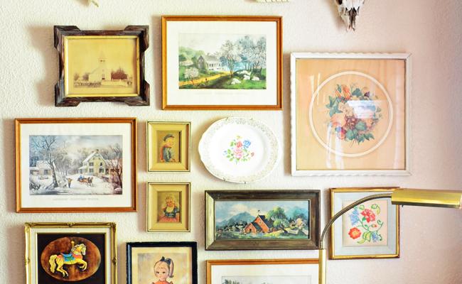 Diy Vintage Art Gallery Wall Gallery Wall Vintage Art