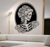 Day of the dead girl Vinyl Wall Decal Sticker Art Decor