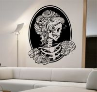 Day of the dead girl Vinyl Wall Decal Sticker Art Decor ...