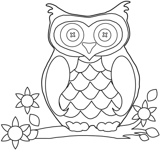 Free Preschool Fall Coloring Pages Printable Colouring Sheets Animal Owl For Girls Boys