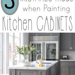 Paint Kitchen Cabinets White Square Oak Table Mistakes People Make When Painting