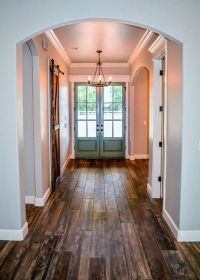 Farmhouse Entry -- barn style door to guest bath | House2 ...