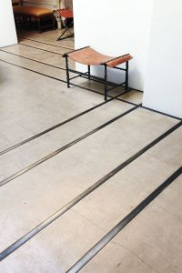 concrete floor with metal inlay - Google Search ...