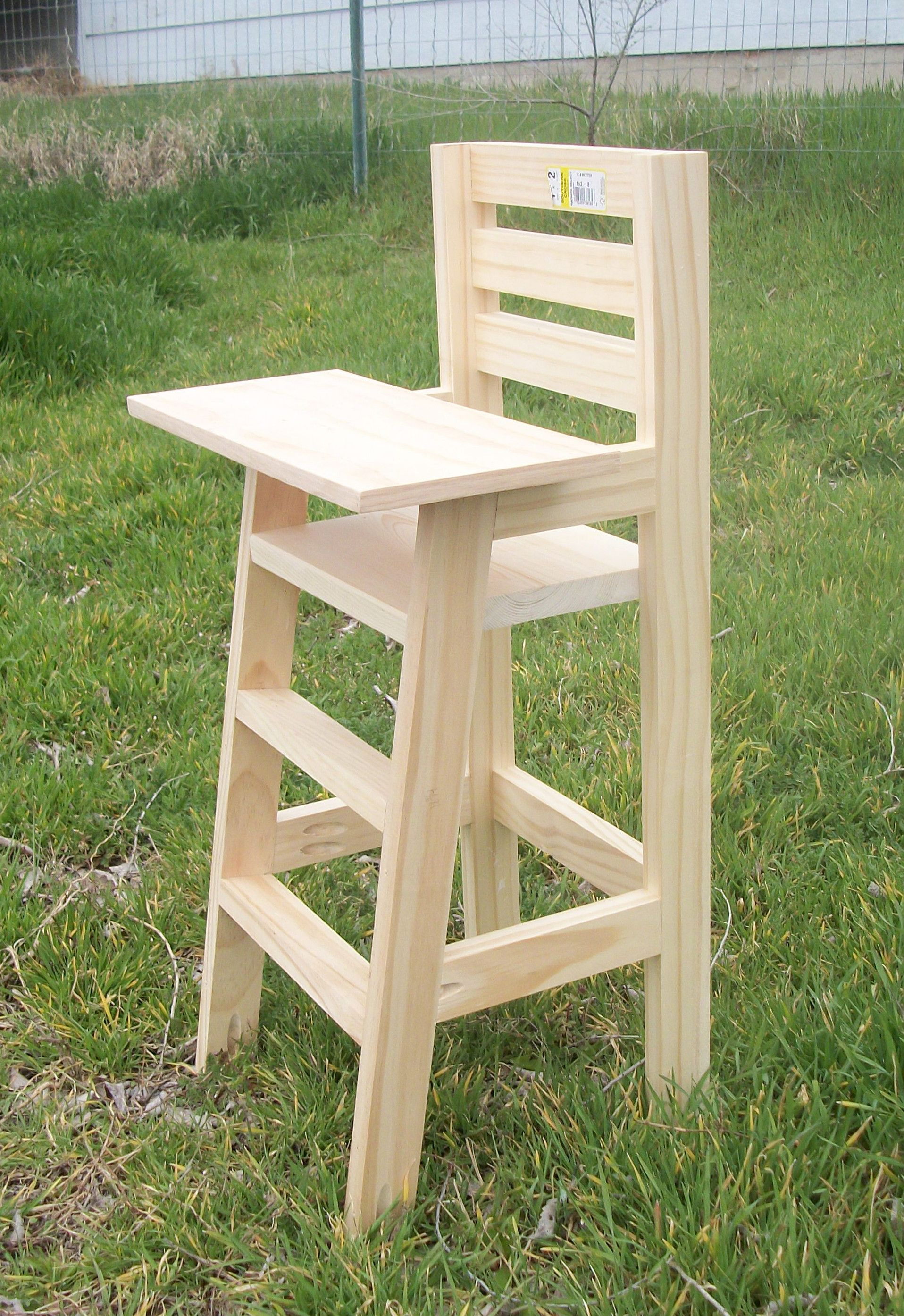 White Wood High Chair Cutest Baby Doll High Chair Do It Yourself Home Projects