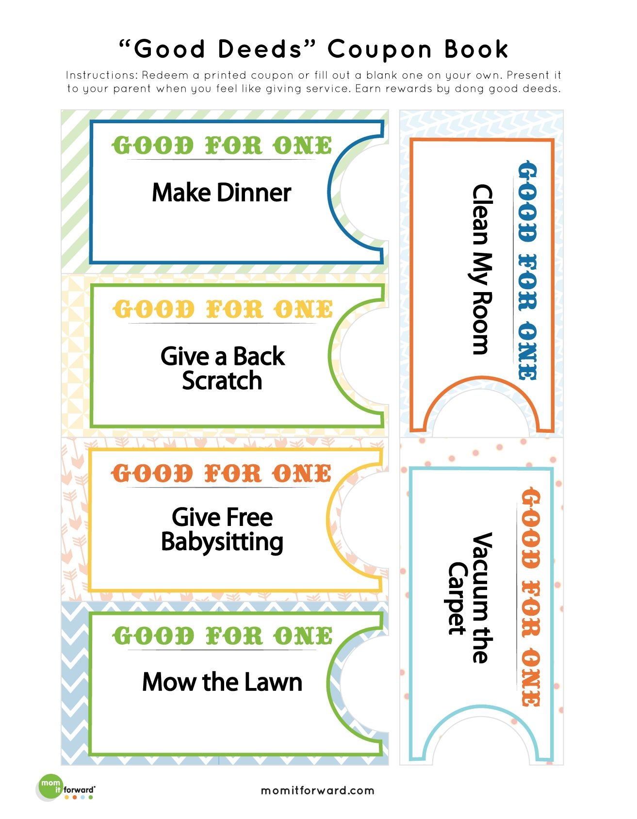Good Deed Coupon Book Printables