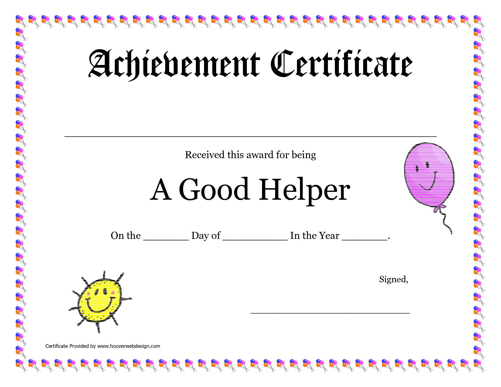 Printable Award Certificates For Teachers Good Helper