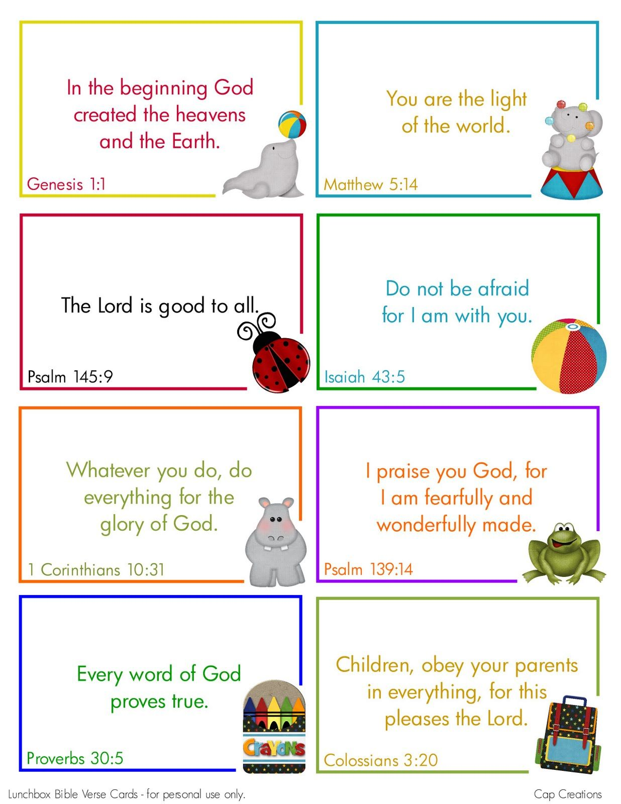 Free Printable Lunchbox Bible Verse Cards Cute Uld Use These With The Kids