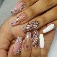 Nail Designs With Stones - Coffin Nails - Nails Album ...