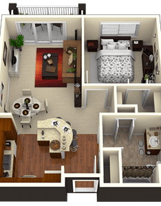 Interiors also parkwood pointe apartments floor plans ideal larger apartment rh pinterest