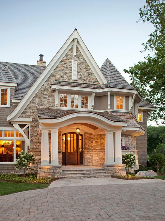 Home Exterior Design 5 Ideas & 31 Pictures Entrance Design