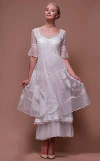Titanic Tiered Vintage Wedding Dress in Ivory by Nataya ...